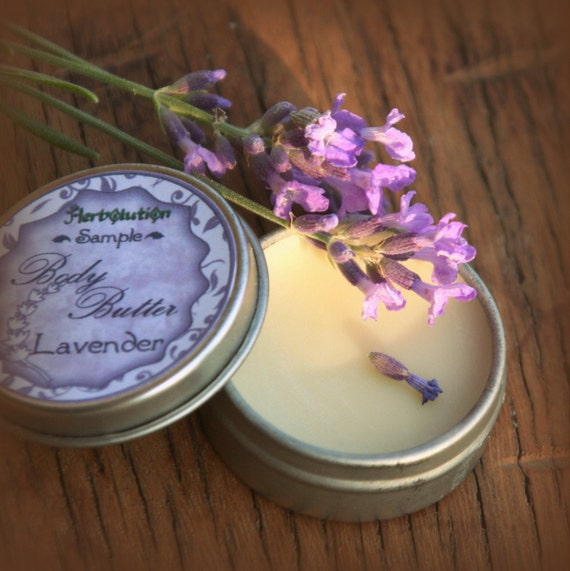 Lavender Body Butter Organic Vegan Natural with Shea butter SAMPLE