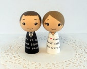Nerd Vows Wedding Cake Toppers