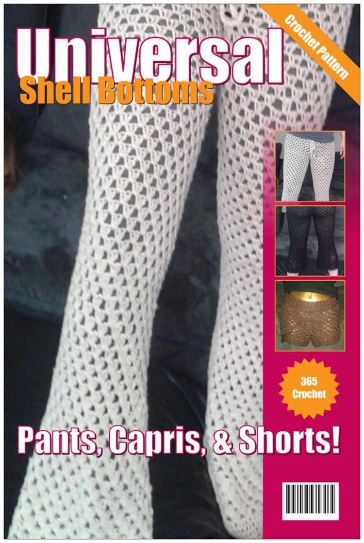 Universal Shell Crochet Pants Pattern Capri By Firenedesigns