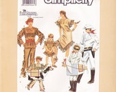 Adult Costume Pattern Lone Ranger Tonto Size Small Medium Large 1990 Simplicity 9899