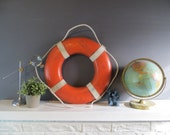 RESERVED FOR KRISTINA-Vintage orange life preserver