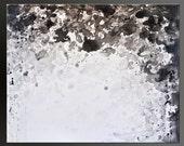 Cloudburst 2 - 24x30- Abstract Acrylic Painting - Contemporary Wall Art - Black White Gray Grey