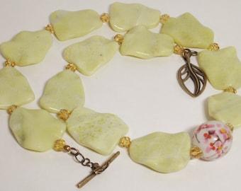Citrus Floral bead