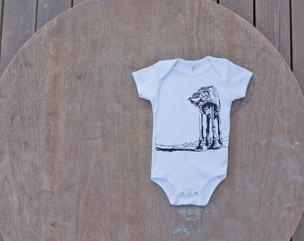 Star Wars AtAt Walker American Apparel Hipster baby Onesie / Baby Shower Gift