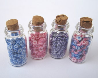 Dollhouse Miniature Food one jar of heart candy in 12th scale