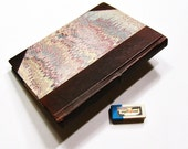 Marbled paper & Leather ADDRESS  BOOK made in Italy.  Hand crafted Florentine style -  SIZE: 4,87