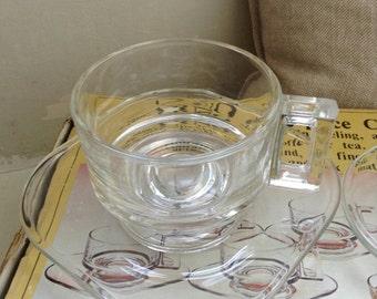Retro Art Deco Style Glass Coffee Set 12 pc