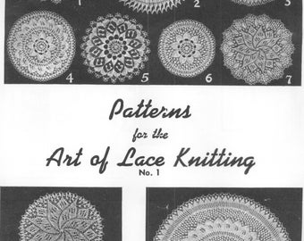 The Art Of Lace Knitting Patterns #1  Doilies PDF Instant Download