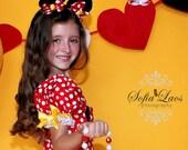 Minnie Mouse headband red polka dot