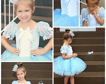 Cinderella costume, princess custom costume 4t