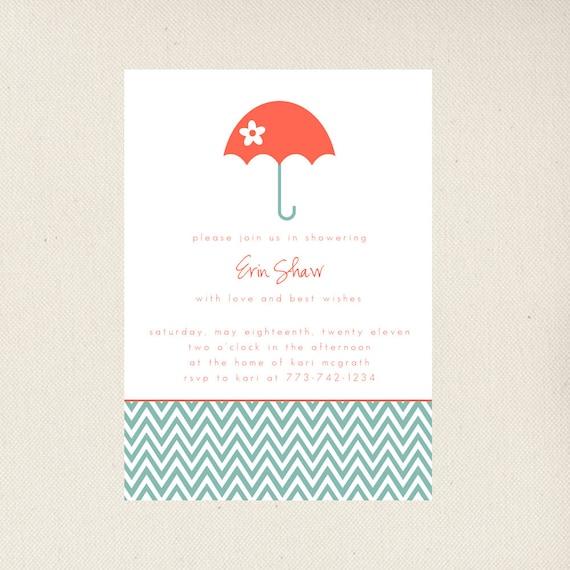 Bridal Shower Invitations, Umbrella
