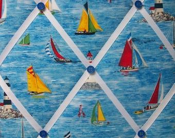 SAILBOAT sailing boats boating french memo bulletin photo board 12x16