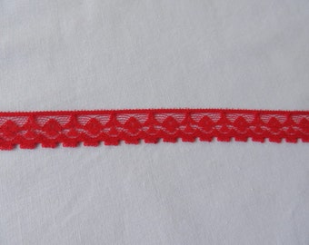 6 Yards Delicate  Red Flat Lace
