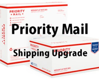 Priority Mail Upgrade from First Class Mail Shipping