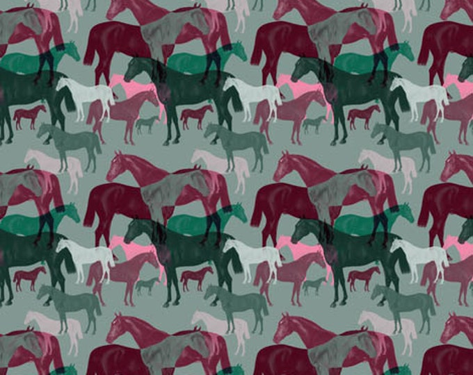 Victorian Horse collage  fabric