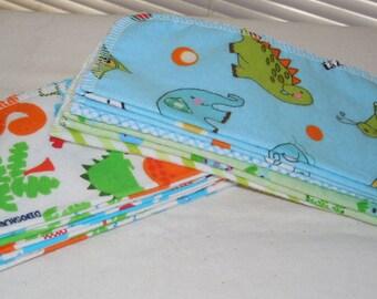 BOY PRINTS, Eco Friendly, Cloth Baby Wipes, Set of 24