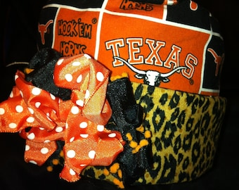 Sweetpea Vintage Baby Hats...Size 0 to 1 years...Texas Longhorns