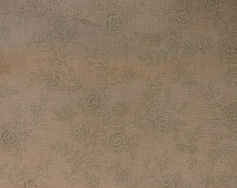 Rococo & Sweet Fabric by Lecien Green Roses Lace Print