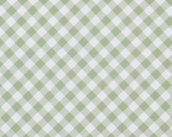 Green  Gingham pwtw070Green  Cotton Fabric by Tanya Whelan FreeSpirit Sunshine Rose