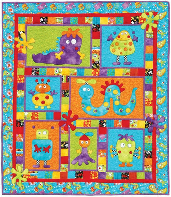 Monster Patch Quilt Pattern by Kids Quilts by agardenofroses