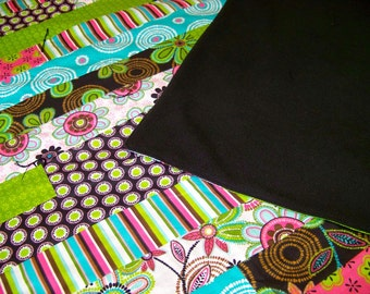 Quilt - Twin Sized - Bright Flowers