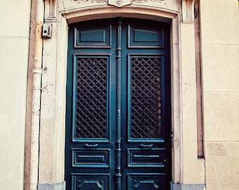 Paris Doors, Door Photography, Paris Print, Paris Photography, Paris Decor, Forest Green Doors Rustic Travel Decor, France Fine Art Print