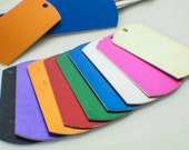 15 Aluminum Dog Tags - Lightweight, Economical and Colorful - Handmade Jump Rings Included - 100% Guarantee