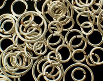 100 Non Tarnish Silver Plate Jump Rings 18 gauge YOU Pick Diameter 2.5mm - 15mm ID