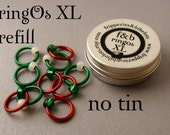 ringOs XL REFILL - Holly and Mistletoe - Ring Stitch Markers for Knitting