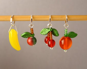 Fruit Bowl Stitch Markers for Knitting
