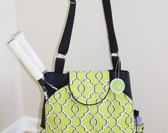 Large Tennis Bag with rounded pockets made to Order..