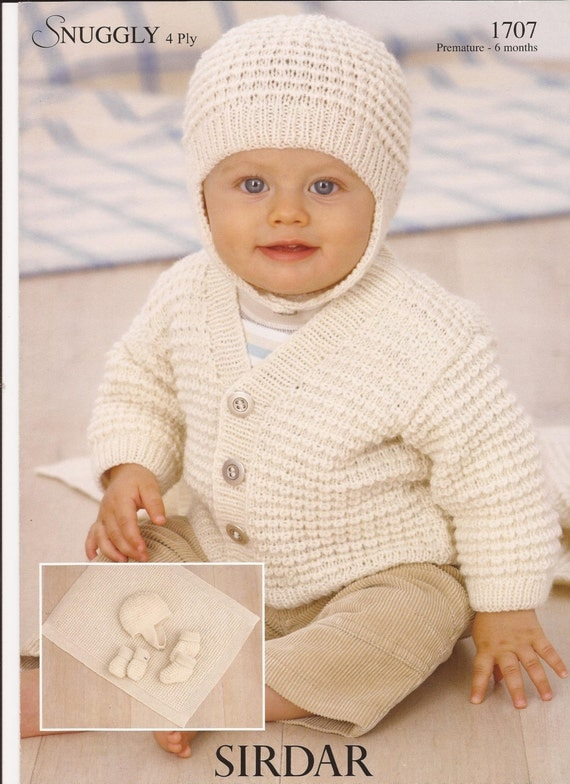 Sirdar Snuggly 4Ply Knitting Pattern 1707 Baby Layette
