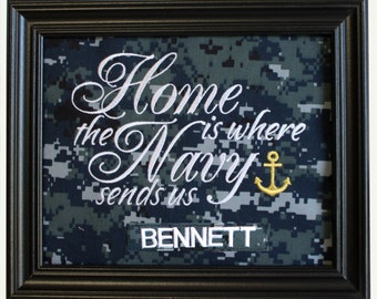 Home is where the Navy sends us - NWU fabric mat
