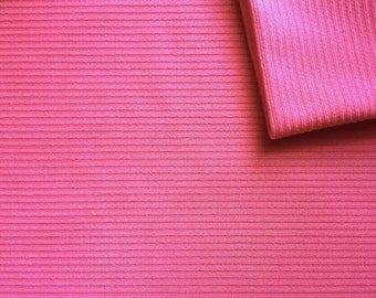 Vintage Fabric 70's Polyester, Pink, Textured, Material, Textiles