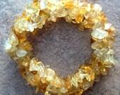 NATURAL BEAUTY ll - Beautiful citrine bracelet, stone stretch bracelet, beaded, stone, crystal bracelet