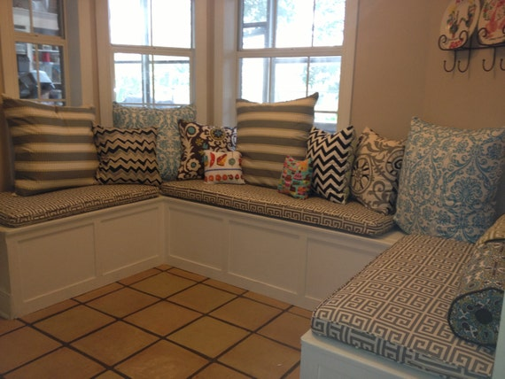 Custom Sewn Banquette Seat Bench Cushion With Cording
