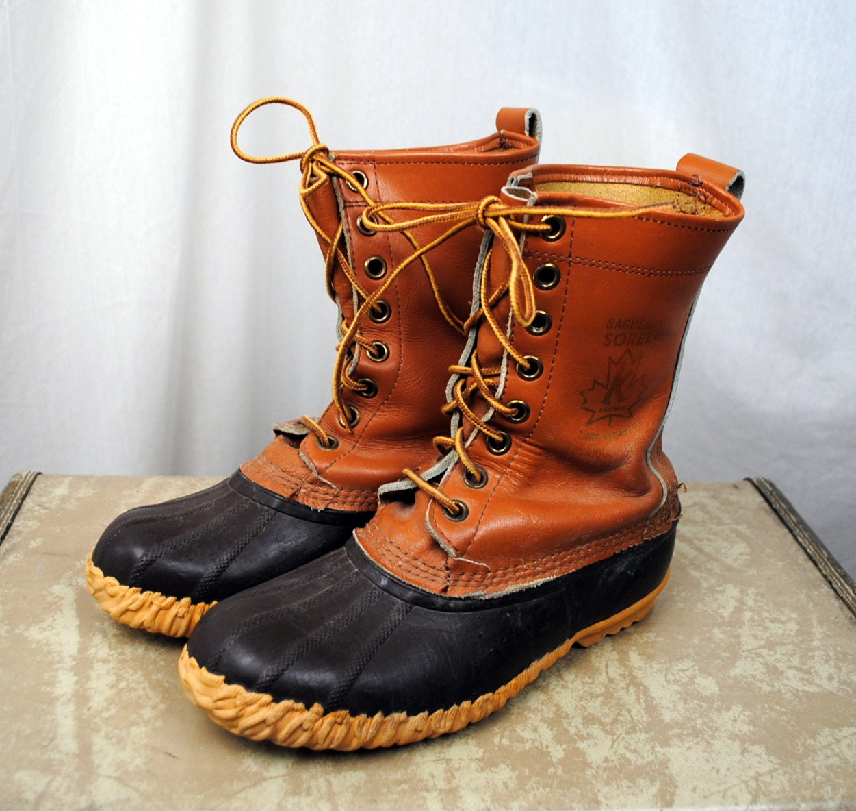 Popular Sperry Top-Sider Saltwater Duck Boot Tan/Navy Womens Leather Winter Boots NEW! | EBay
