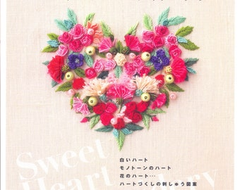 Master Ayako Otsuka Collection 02 - Sweet Heart Embroidery - Japanese craft book