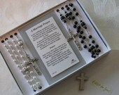 Queen of Heaven Wedding Rosary Set,  Bridal Rosaries
