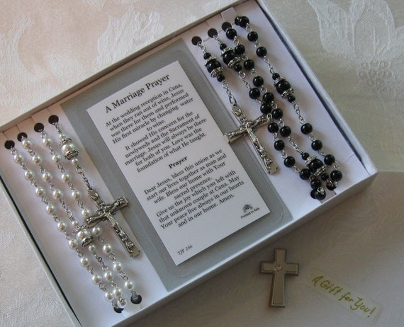 queen of heaven wedding rosary set bridal by julieharrison