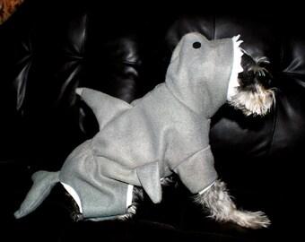 Pet Shark Outfit Hooded Pajamas