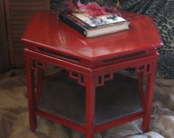 Casbah Coffee Table in Jazzy Poppy Vintage Poppy Cottage Painted Vintage Furniture