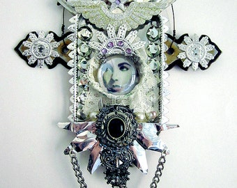 Mixed Media Art Assemblage Altoid Art Liz Taylor