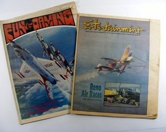 Reno Air Races 1984 collection of two entertainment newspapers