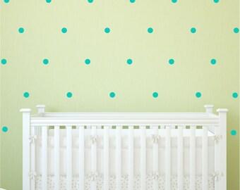 Custom Modern Wallpaper Look Polka Dots 1.75 inches Decals Vinyl Stickers by Decomod Walls