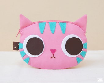 Pinky cat coin purse