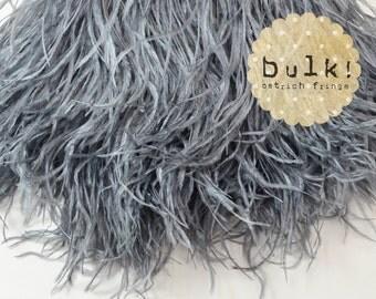 GREY - BULK - Vogue Ostrich Thrill - Feather Trim - Ostrich Trim - Wholesale Feathers