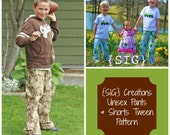INSTANT Download SIG Boy or Girl Pants and Shorts with Pocket Sewing Pattern in PDF File - Youth to Tween Size 6 to 12