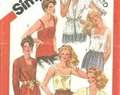 Simplicity 5352 camisoles Jacket blouse sz16 vintage 1981