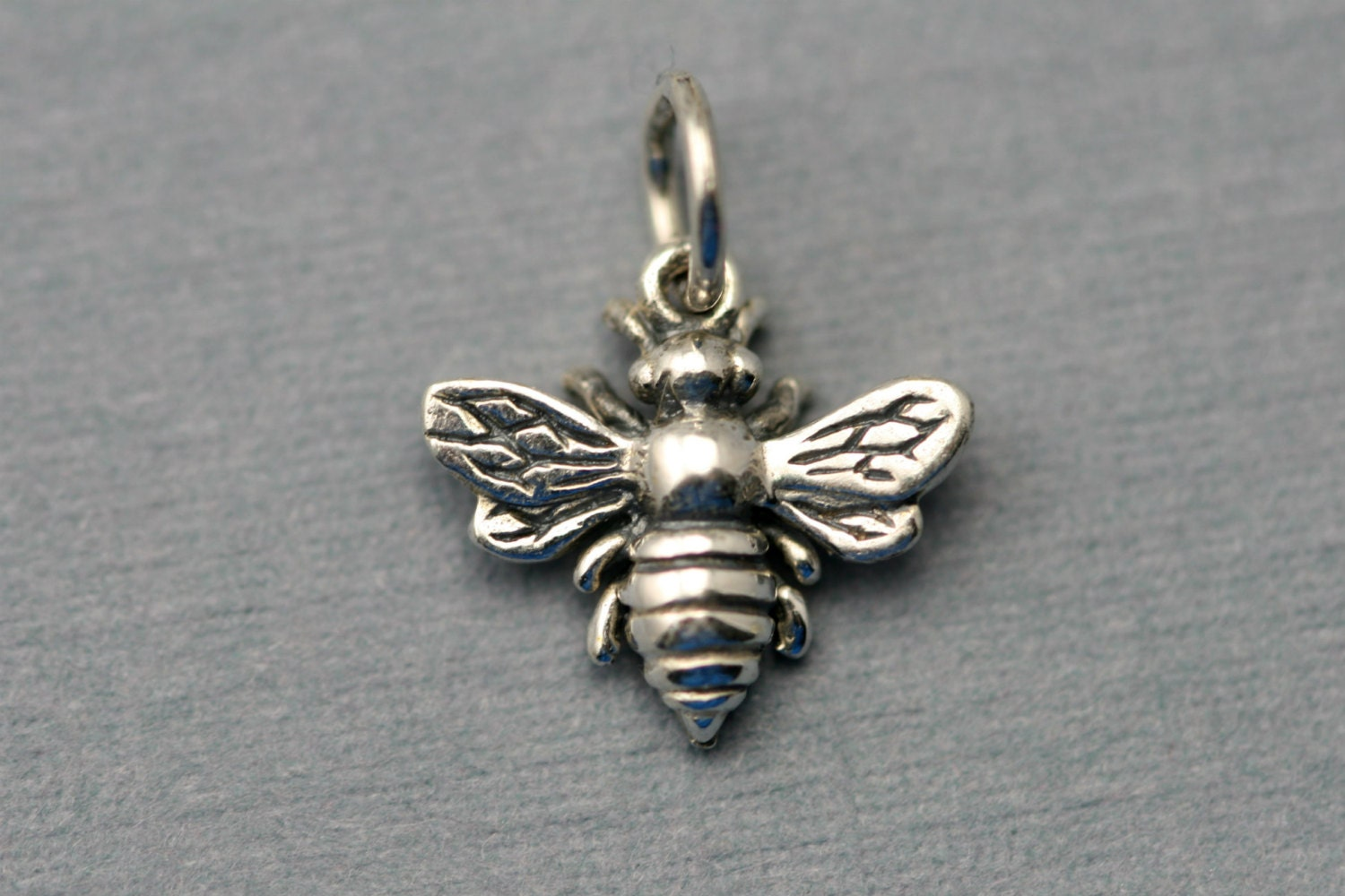 Sterling Silver Bee Charm Silver Bumblebee Add On Charm
